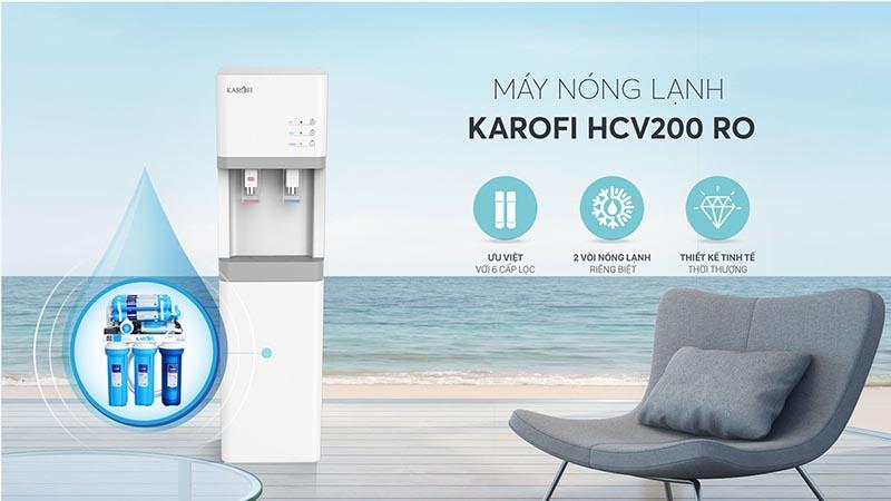Máy lọc nước nóng lạnh Karofi HC200RO